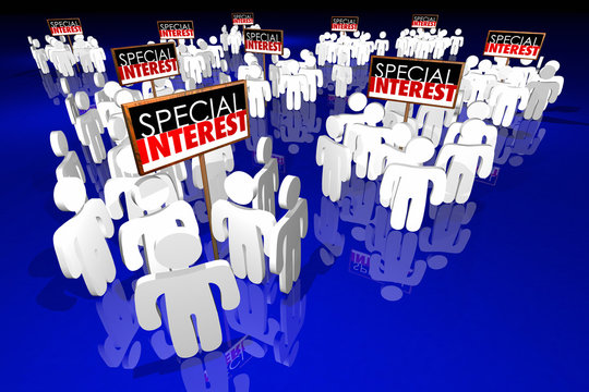 Special Interest Groups Signs People Lobbyists Politics Politica