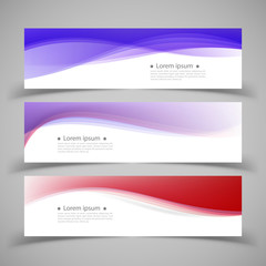 Set of banner templates.  Modern abstract Vector Illustration de