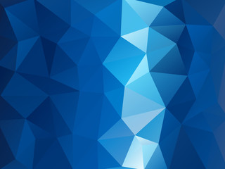 Triangular Triangle Vector Background Abstract  blue