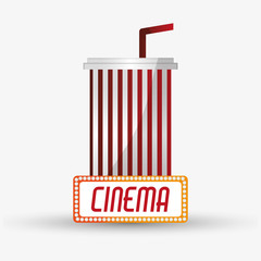 Soda icon. Cinema movie video film and entertainment theme. Colorful design. Vector illustration