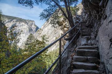 stairs of mist trail, yosemite