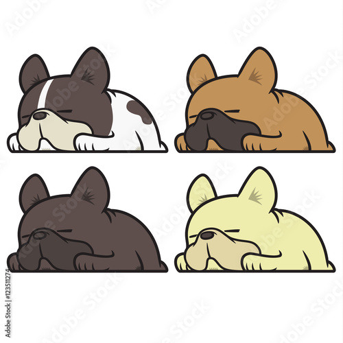 French Bulldog Sleeping Stock Image And Royalty Free Vector Files