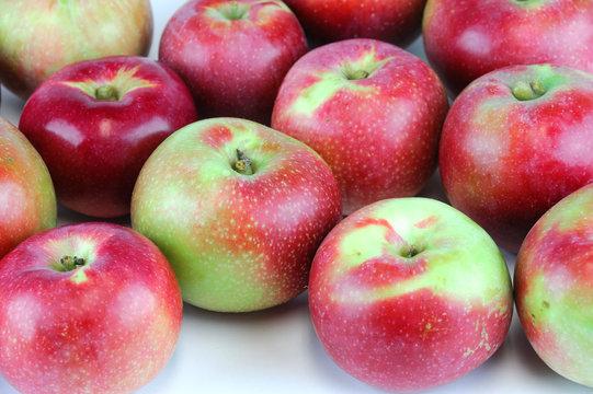close up on fresh apples