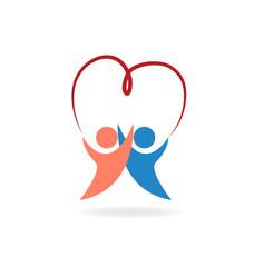 Valentines love symbol logo