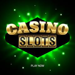 Casino slots bright banner