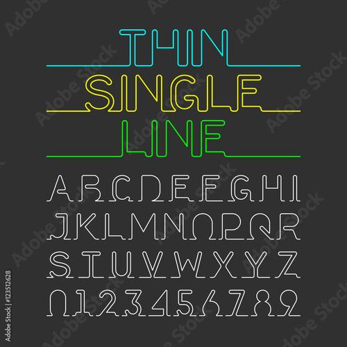 single line font free download