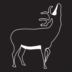 Vector logo deer. Brand color silhouette icon.