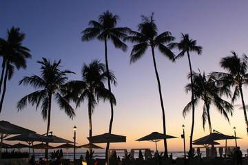 Hawaii resort sunset