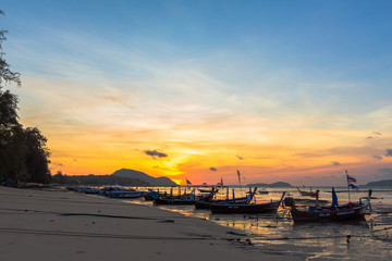 Rawai beach is a launching point for day boat excursion out to Phuket's surrounding islands.long-tail boats and speed boats available for hire its shores,