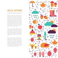 Template of autumn