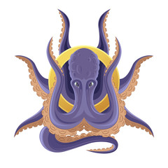 Octopus for the emblem or logo