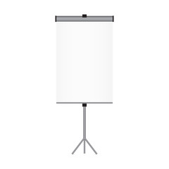 Blank paper poster on white wall. Vector eps-10.