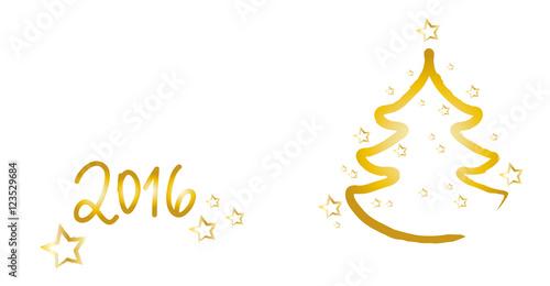 fr hliche weihnachten 2016 goldener weihnachtsbaum mit. Black Bedroom Furniture Sets. Home Design Ideas