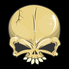 halloween skull Isolated vector illustrations