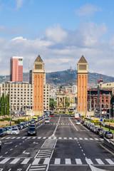 Venetian Towers. Avinguda de la Reina Maria Christina, Barcelona