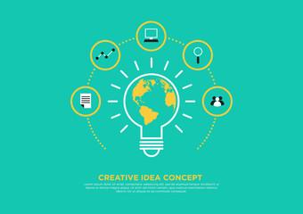 Creative idea concept, brainstorm vector illustration