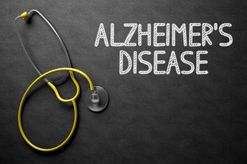 Alzheimers Disease - Text on Chalkboard. 3D Illustration. Wall mural
