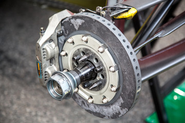 Wheel axis of racing car