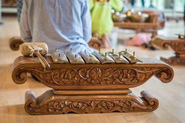 Type of Saron, a gamelan music instrument. Gamelan is traditional music in Bali and Java, Indonesia.