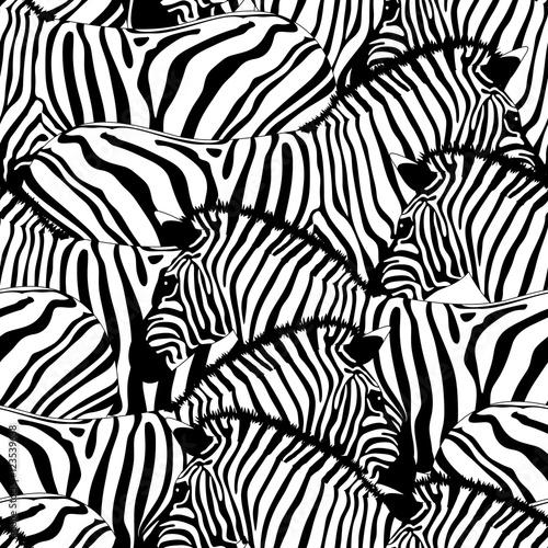 "Aninimal Book: ""Zebra seamless pattern.Savannah Animal ornament. Wild ..."