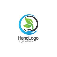Hand Creative Concept Logo Design Template