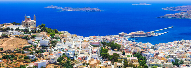 Authentic Greece series - Syros island, panoramic view