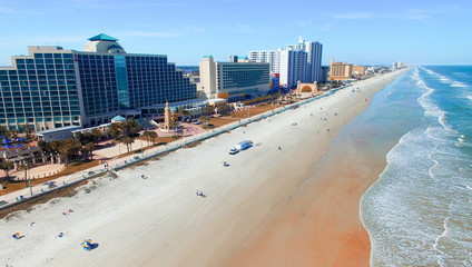 DAYTONA BEACH, FL - FEBRUARY, 2016: Aerial view of city skyline