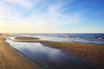 Sea water surface in Jurmala, Latvia