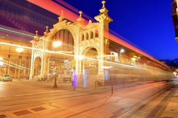 Mercado Central en la hora azul, Zaragoza