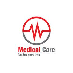 red circle medical logo icon