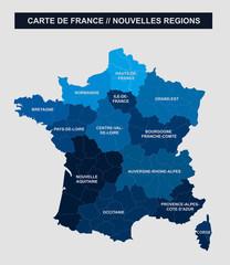 carte de France, 13 régions