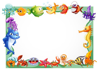 Frame design with sea animals