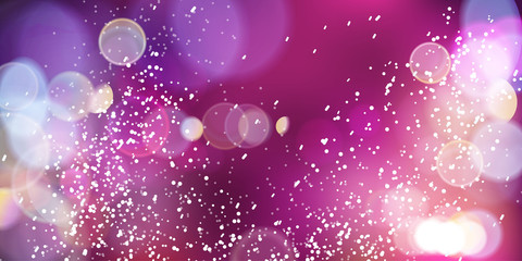 Purlle magic lights background