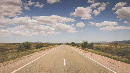 Outback Straße in Australien