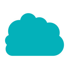 blue cloud in cumulus shape vector illustration