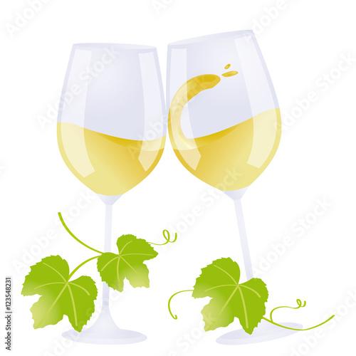 2 verres de vin blanc qui trinquent fichier vectoriel libre de droits sur la banque d 39 images - Verre de vin dessin ...