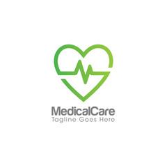 Medical Care Creative Concept Logo Design Template