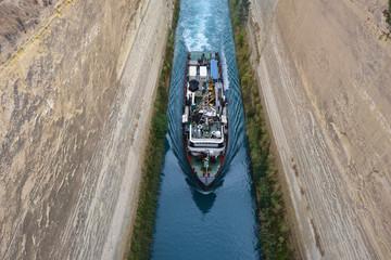 Fotobehang Kanaal Corinth Channel, Greece
