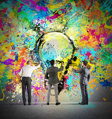 Fototapete - Painting a new creative idea