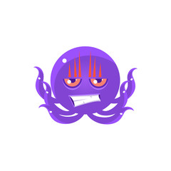 Angry Funny Octopus Emoji