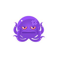 Funny Octopus With Headache Emoji