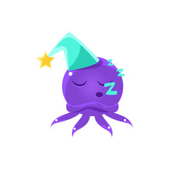 Funny Octopus Sleeping Emoji