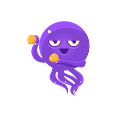 Funny Octopus Dancing With Castanets Emoji