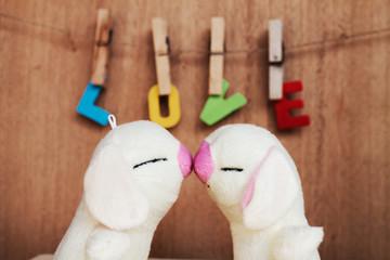 soft toys love concept Fototapete