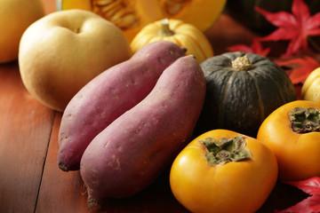 秋の食材 Japan autumn foods