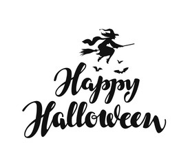 Happy Halloween message background. Vector illustration