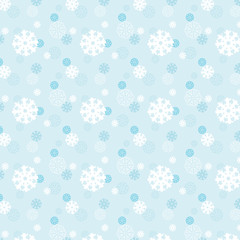 Background with snowflakes.  For print. Scrapbook paper.