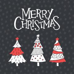 Christmas greeting card with christmas simbols