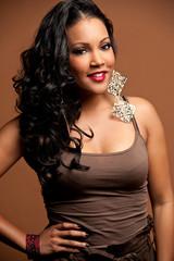 Black Woman Long Hair