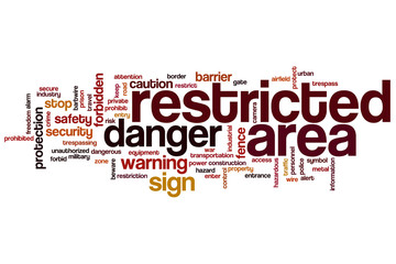 Restricted area word cloud